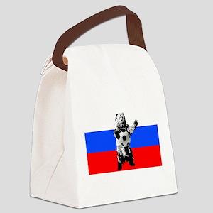 Russian Football Flag Canvas Lunch Bag