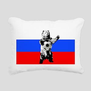 Russian Football Flag Rectangular Canvas Pillow