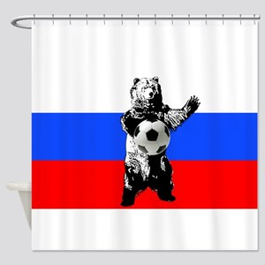 Russian Football Flag Shower Curtain