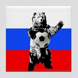 Russian Football Flag Tile Coaster