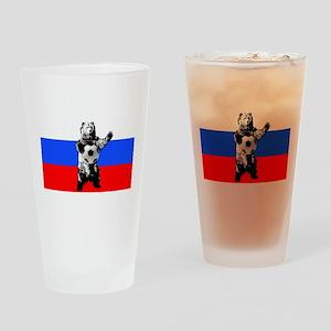 Russian Football Flag Drinking Glass