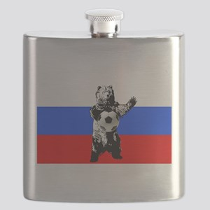 Russian Football Flag Flask