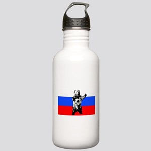 Russian Football Flag Stainless Water Bottle 1.0L