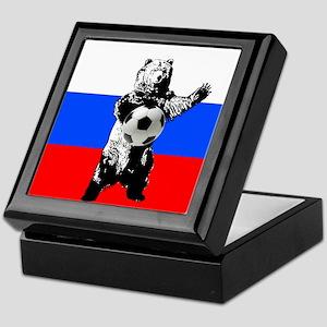 Russian Football Flag Keepsake Box