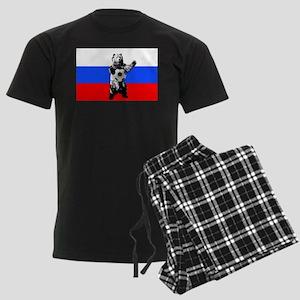 Russian Football Flag Men's Dark Pajamas