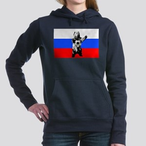 Russian Football Flag Hooded Sweatshirt