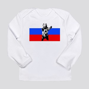 Russian Football Flag Long Sleeve Infant T-Shirt