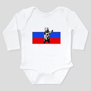 Russian Football Flag Long Sleeve Infant Bodysuit