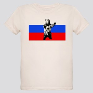 Russian Football Flag Organic Kids T-Shirt