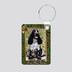 English Cocker Spaniel Dog Aluminum Photo Keychain