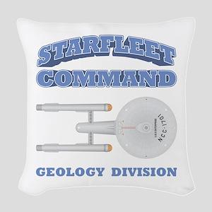 Starfleet Geology Division Woven Throw Pillow