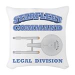 Starfleet Legal Division Woven Throw Pillow