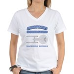Starfleet Machining Division Women's V-Neck T-Shir