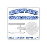 Starfleet Machining Division Square Sticker 3