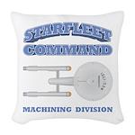 Starfleet Machining Division Woven Throw Pillow
