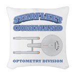 Starfleet Optometry Division Woven Throw Pillow