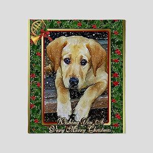 Labrador Retriever Dog Christmas Throw Blanket