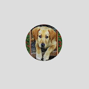 Labrador Retriever Dog Christmas Mini Button