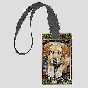 Labrador Retriever Dog Christmas Large Luggage Tag