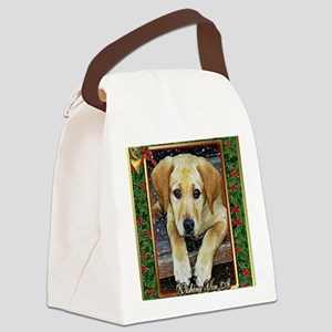 Labrador Retriever Dog Christmas Canvas Lunch Bag