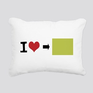 Customize Photo I heart Rectangular Canvas Pillow
