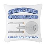 Starfleet Pharmacy Division Woven Throw Pillow