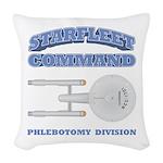 Starfleet Phlebotomy Division Woven Throw Pillow