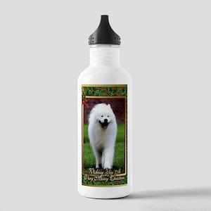 Samoyed Dog Christmas Stainless Water Bottle 1.0L