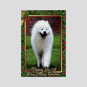 Samoyed Dog Christmas Rectangle Magnet