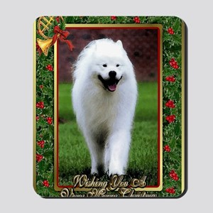 Samoyed Dog Christmas Mousepad