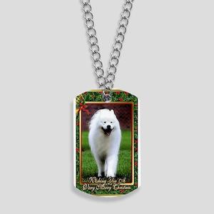 Samoyed Dog Christmas Dog Tags