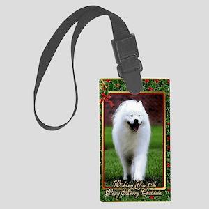 Samoyed Dog Christmas Large Luggage Tag