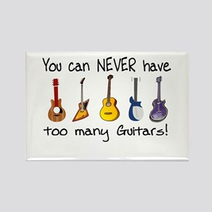Too many guitars Magnets