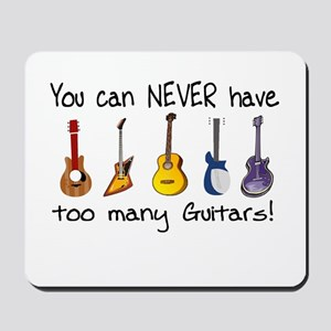 Too many guitars Mousepad