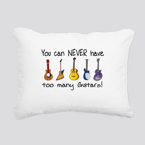 Too many guitars Rectangular Canvas Pillow