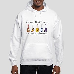 Too many guitars Hoodie