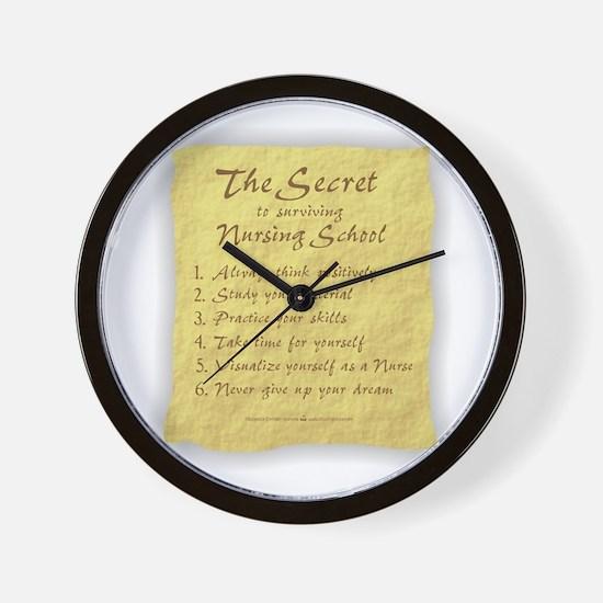 The Secret to Nursing School Wall Clock
