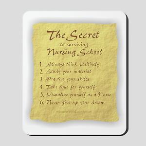 The Secret to Nursing School Mousepad