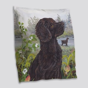 Boykin Spaniel PD Burlap Throw Pillow
