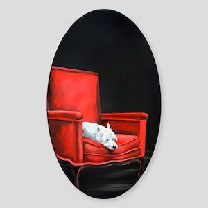 Red Silk Sticker (Oval)