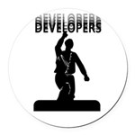 DEVELOPERS - Ballmer Round Car Magnet