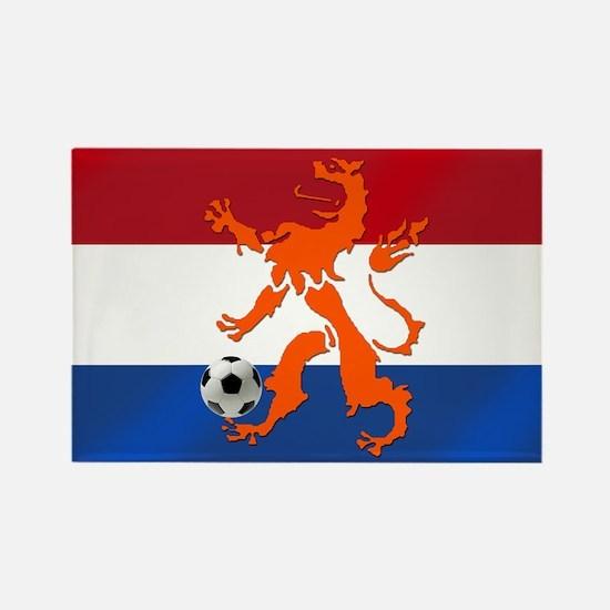 Netherlands Soccer Rectangle Magnet