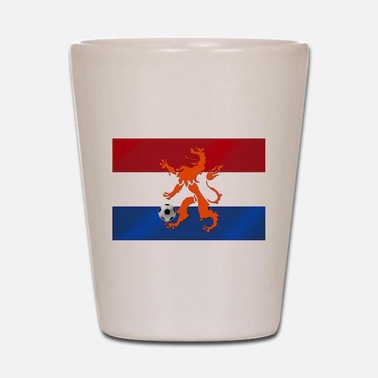 Netherlands Soccer Shot Glass