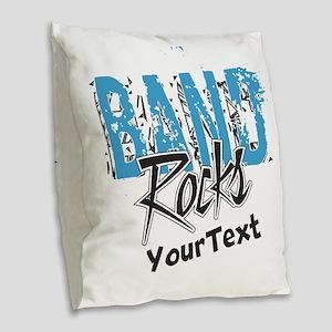 Customize BAND Rocks Burlap Throw Pillow