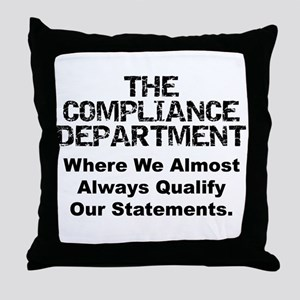 Qualified Compliance Throw Pillow