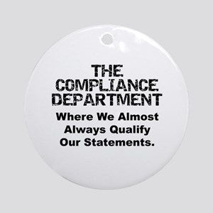 Qualified Compliance Ornament (Round)