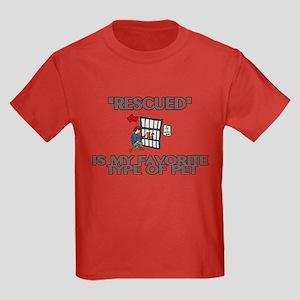 Rescued Pet Kids Dark T-Shirt