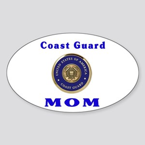 COAST GUARD MOM Oval Sticker