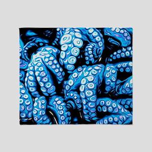 blue tentacles Throw Blanket