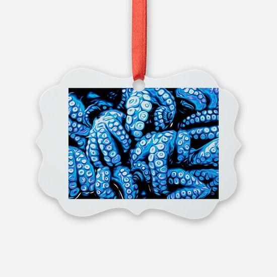 blue tentacles Ornament